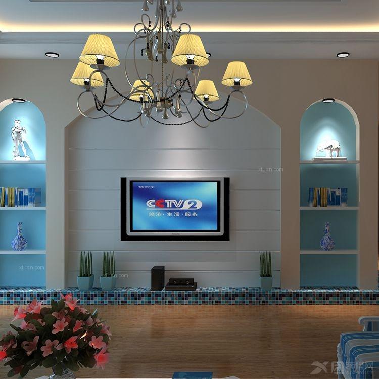 大户型地中海风格客厅电视背景墙