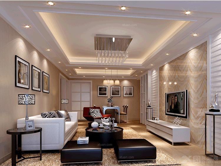 两居室欧式风格客厅_南中旭日新城装修效果图-x团装修