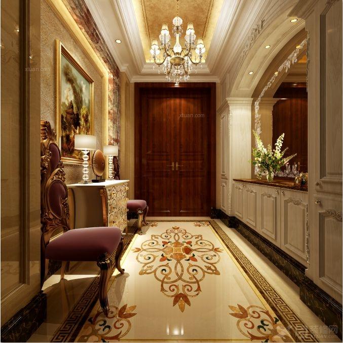 别墅古典风格过道_上海南郊别墅欧式新古典设计装修图片