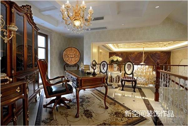 别墅美式风格阁楼地台