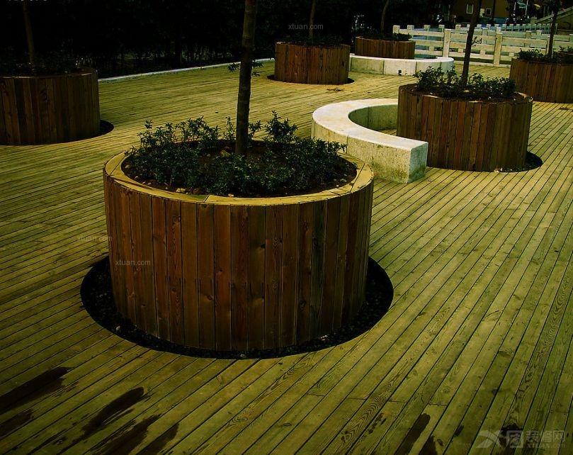 木质小花坛设计装修效果图-x团装修网