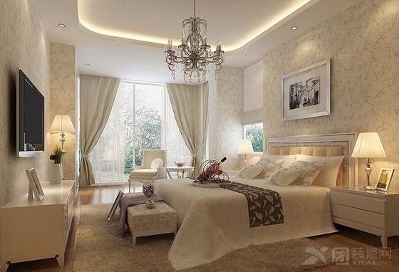 三室一厅现代简约卧室