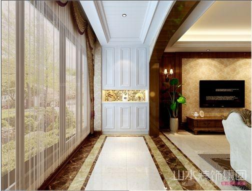 三室两厅欧式风格客厅_华地紫园合肥公司装修效果图-x