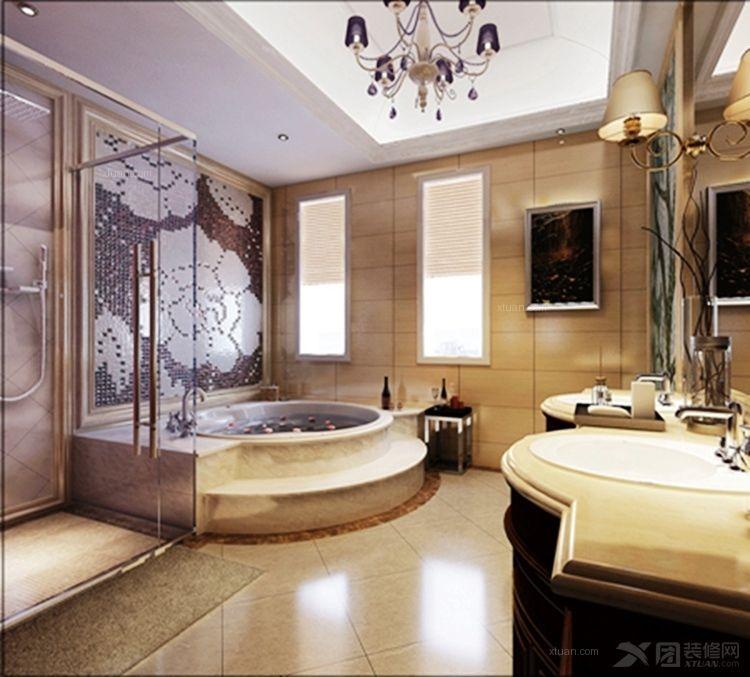 燕西华府双拼别墅尚层装饰装修设计案例