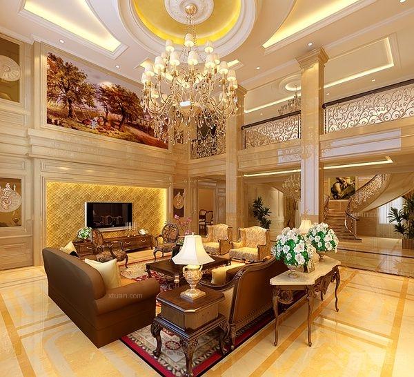 北京碧水庄园A区奢华欧式古典装修案例