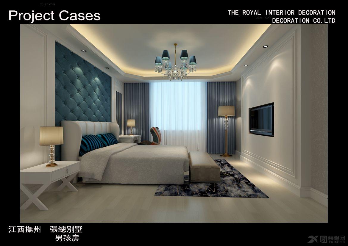 独栋别墅欧式风格小卧室