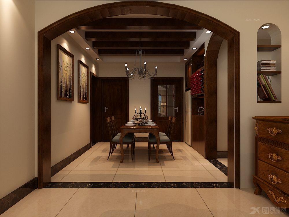 御景阁三室装修美式风格