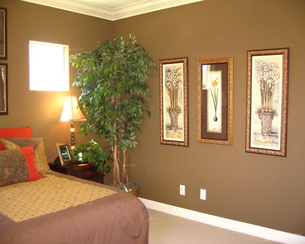 别墅古典风格卧室照片墙