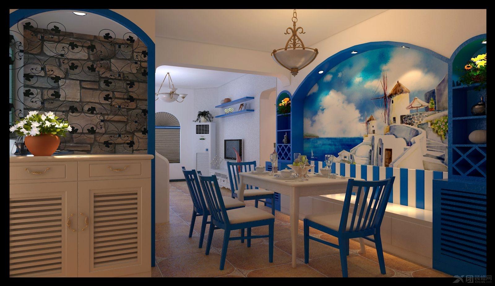 【宝蓝空间设计】卡梅尔小镇地中海装修风格享受