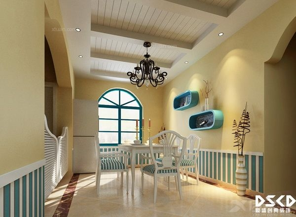 复式楼地中海风格餐厅厨具