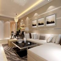 浅色调打造融侨锦江111平简约风格三居室装修设计