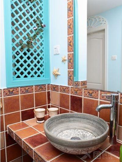 三居室地中海风格洗手间