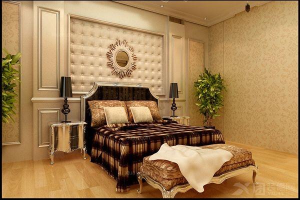 独栋别墅欧式风格主卧室