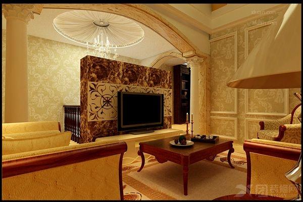 独栋别墅欧式风格休闲区