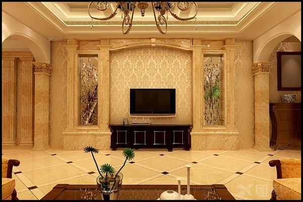 独栋别墅欧式风格客厅电视背景墙