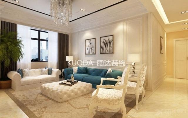龙苑盛景三居室124平米简欧风格
