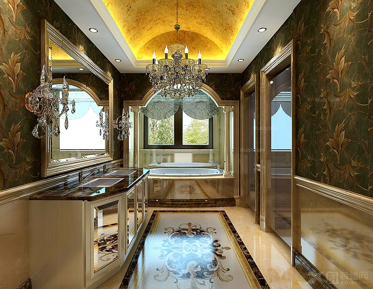 龙湖香緹溪岸别墅多元素设计风格装修效果图