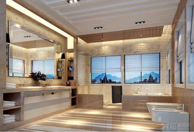 别墅现代简约洗手间