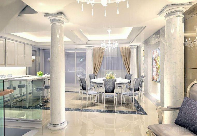 复式楼欧式风格_翠湖庄园欧式风格设计装修效果图-x团