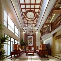 燕西华府独栋别墅新中式风格装修设计效果图