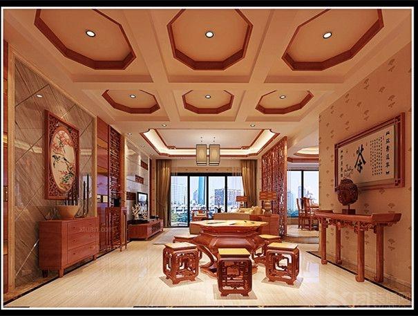 中式风格休闲区图片