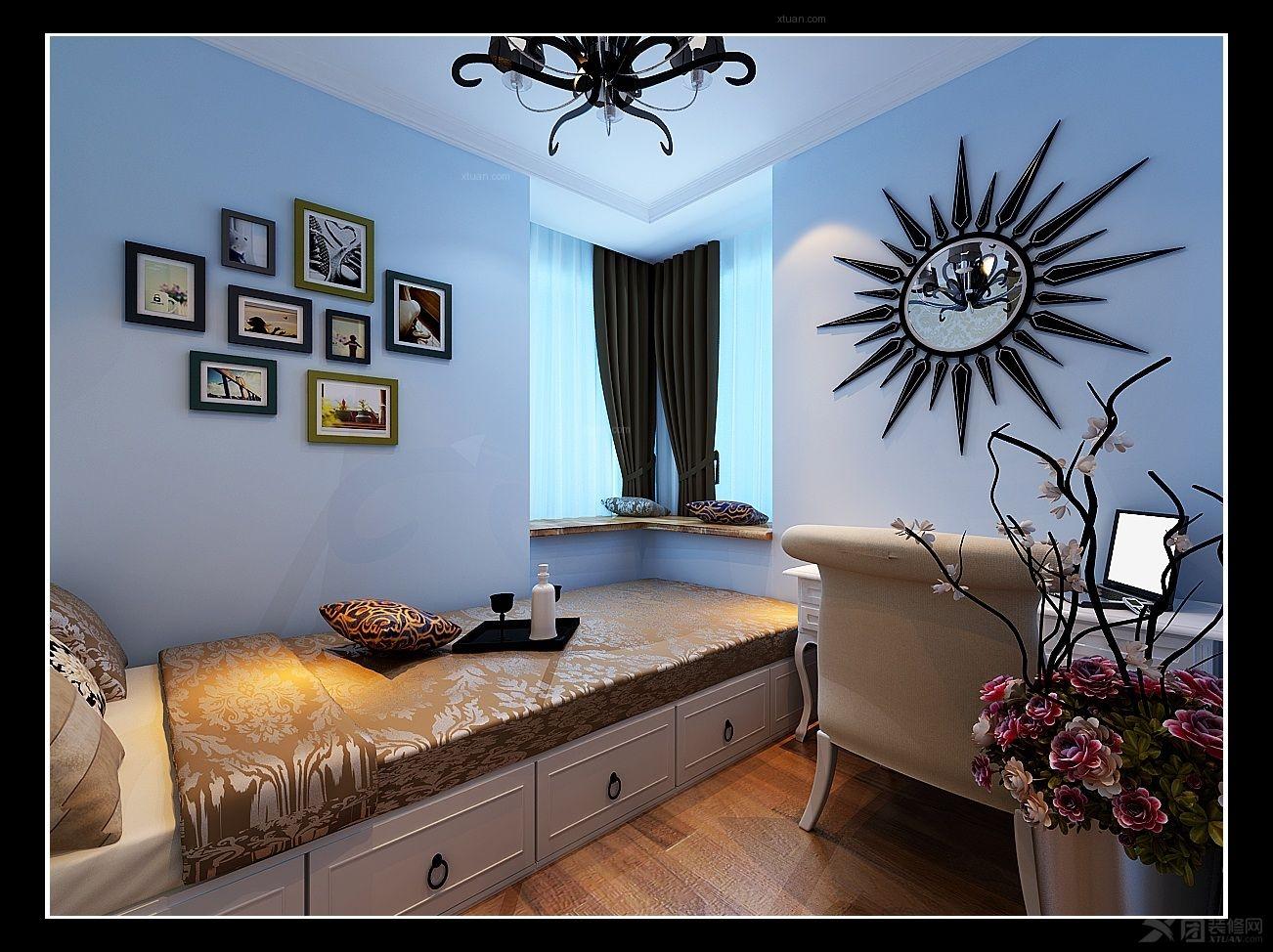 三居室简欧风格小卧室