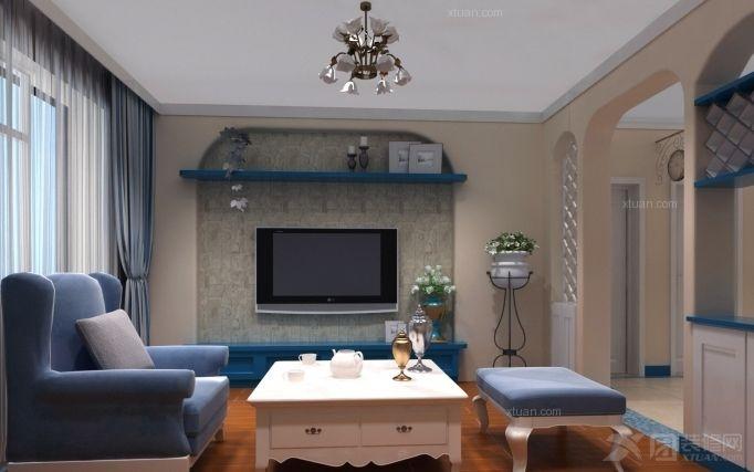 两室一厅地中海风格