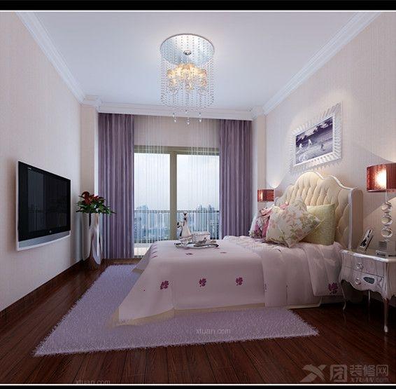 三居室简欧风格主卧室