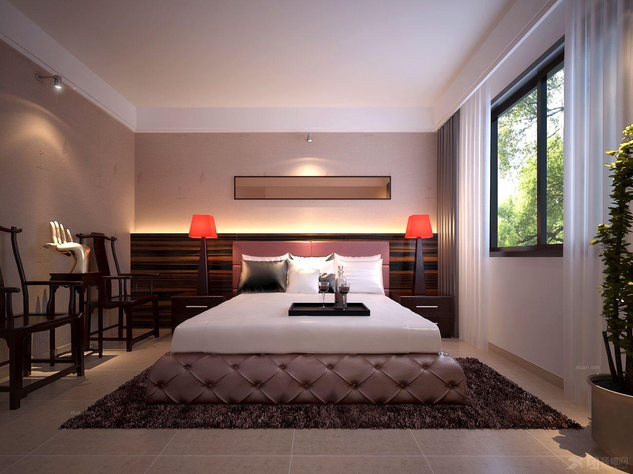 别墅中式风格小卧室
