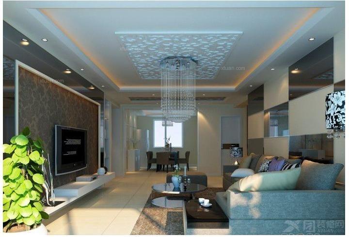 长虹国际城现代简约-90平米3居室-四川吉匠装饰