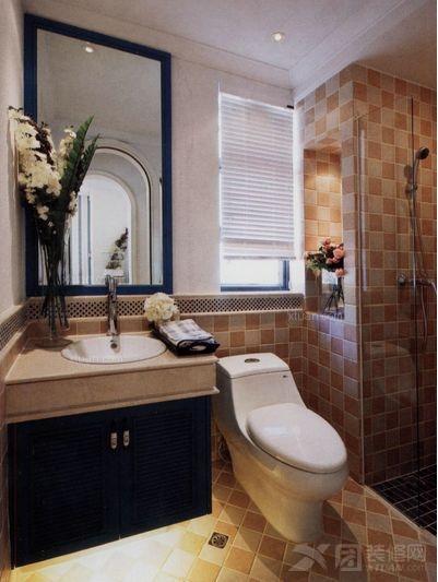 四居室地中海风格厕所
