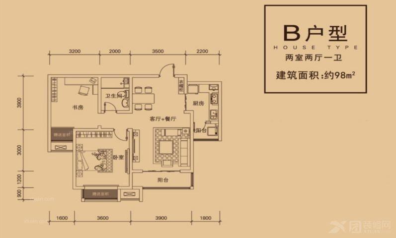 两居室欧式风格小卧室家庭影院