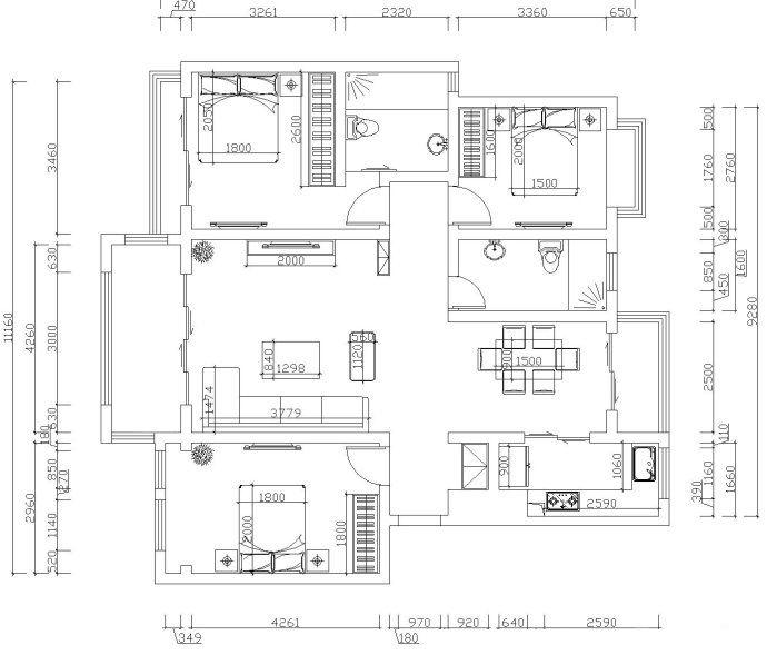 鼎盛创典装饰精装中式三居室新家