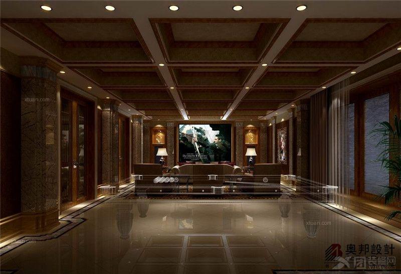 房间欧式别墅地下室_上海博园岚郡高层新欧式v房间奥邦有风格别墅几别墅个图片