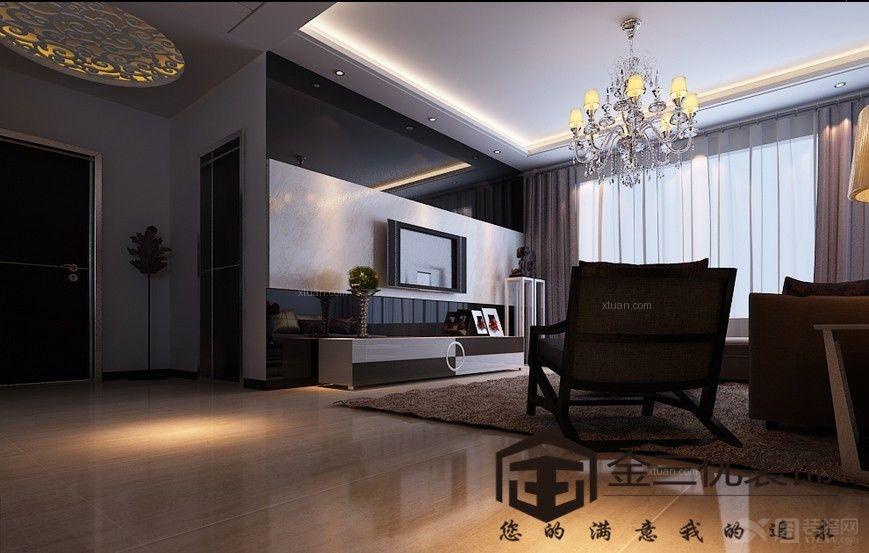 北京风景130平米A1户型现代简约风格
