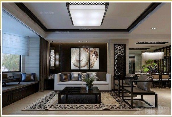 中铁花溪渡三居室简约中式风格