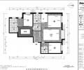 175平米简约三居室设计