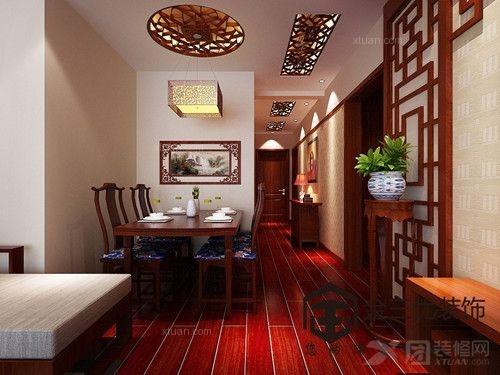 北京风景A1户型中式风格案例