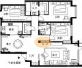 123平现代港式三口之家有足够的储物空间