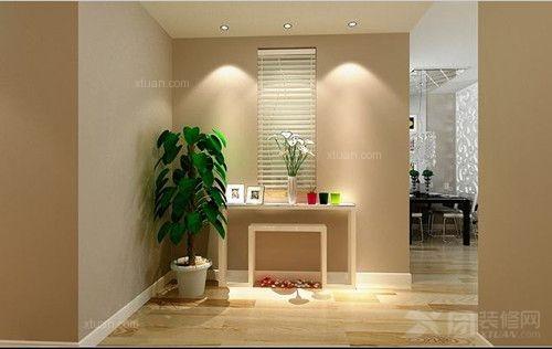 三居室现代简约过道_北京风景c户型110平米装修效果