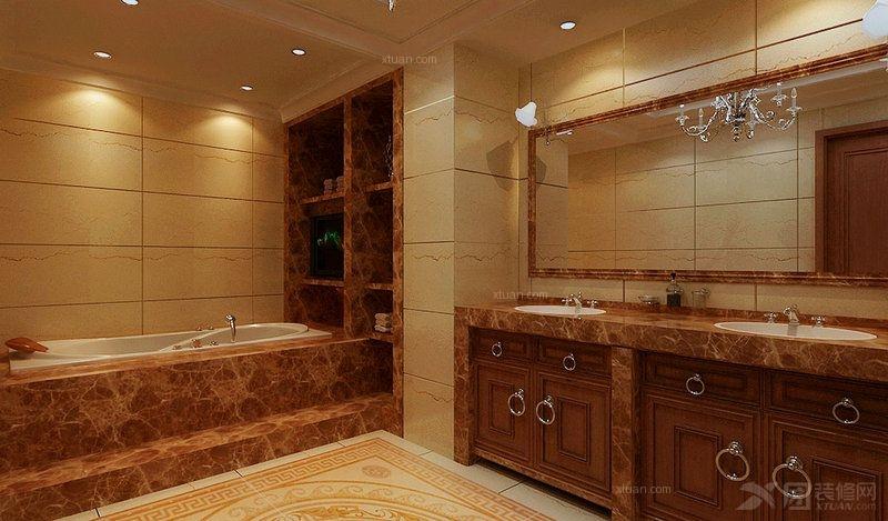 四居室简欧风格卫生间图片