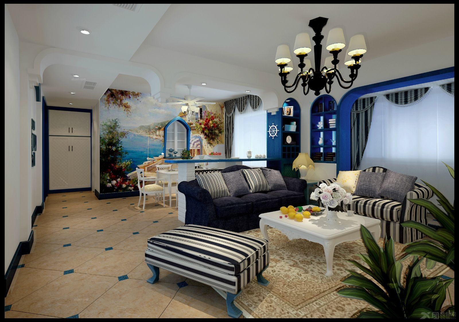 三居室地中海风格