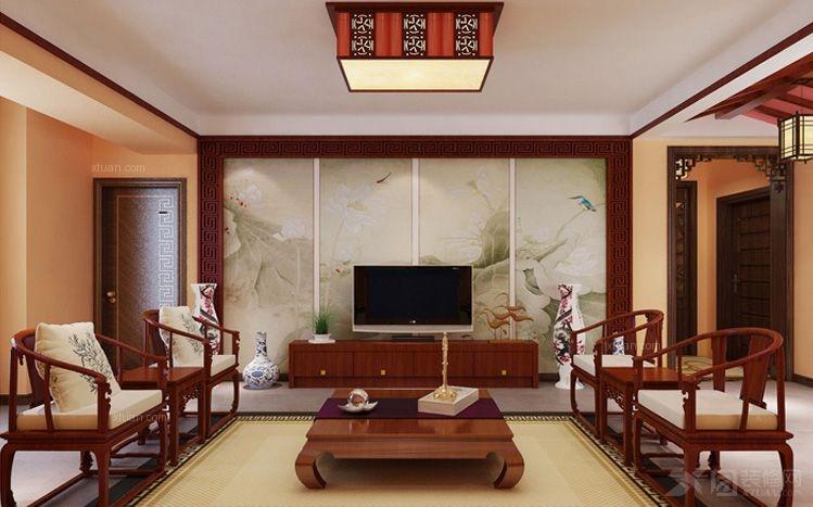 中式风格客厅_石家庄实创装饰-【远见】c1户型188