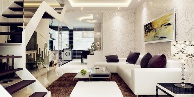 复式楼现代风格客厅图片