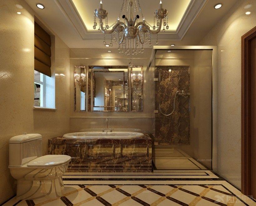 四居室现代简约卫生间墙绘