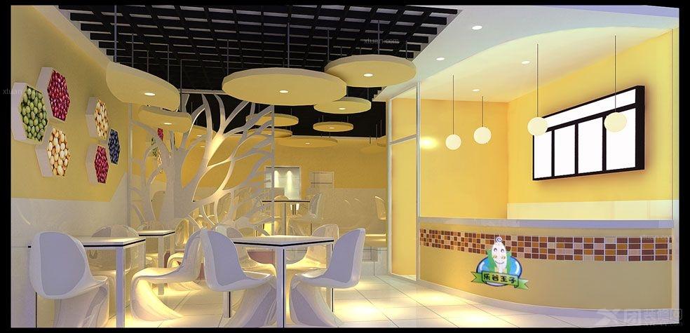 奶茶店设计装修效果图剪力墙毕业设计图片