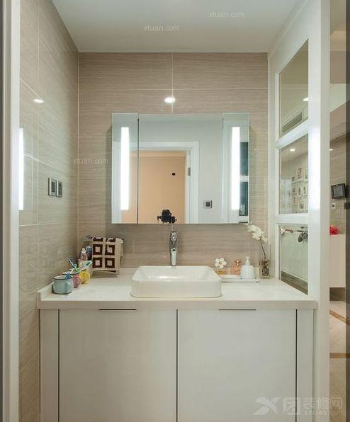 三居室现代简约洗手间