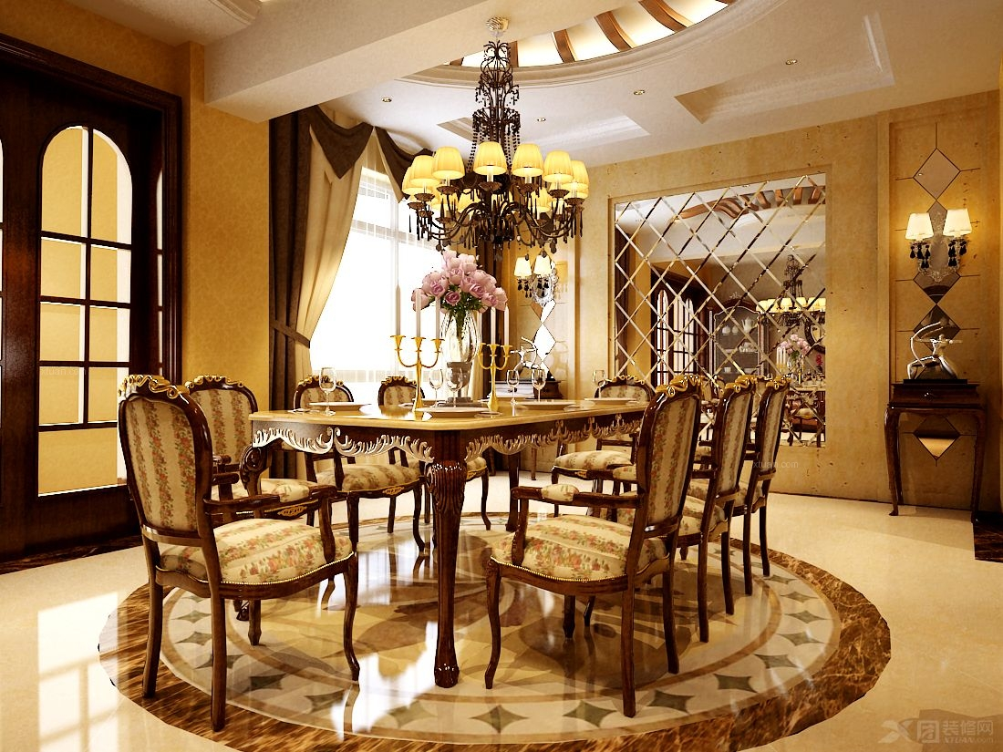 复式楼欧式风格餐厅厨具