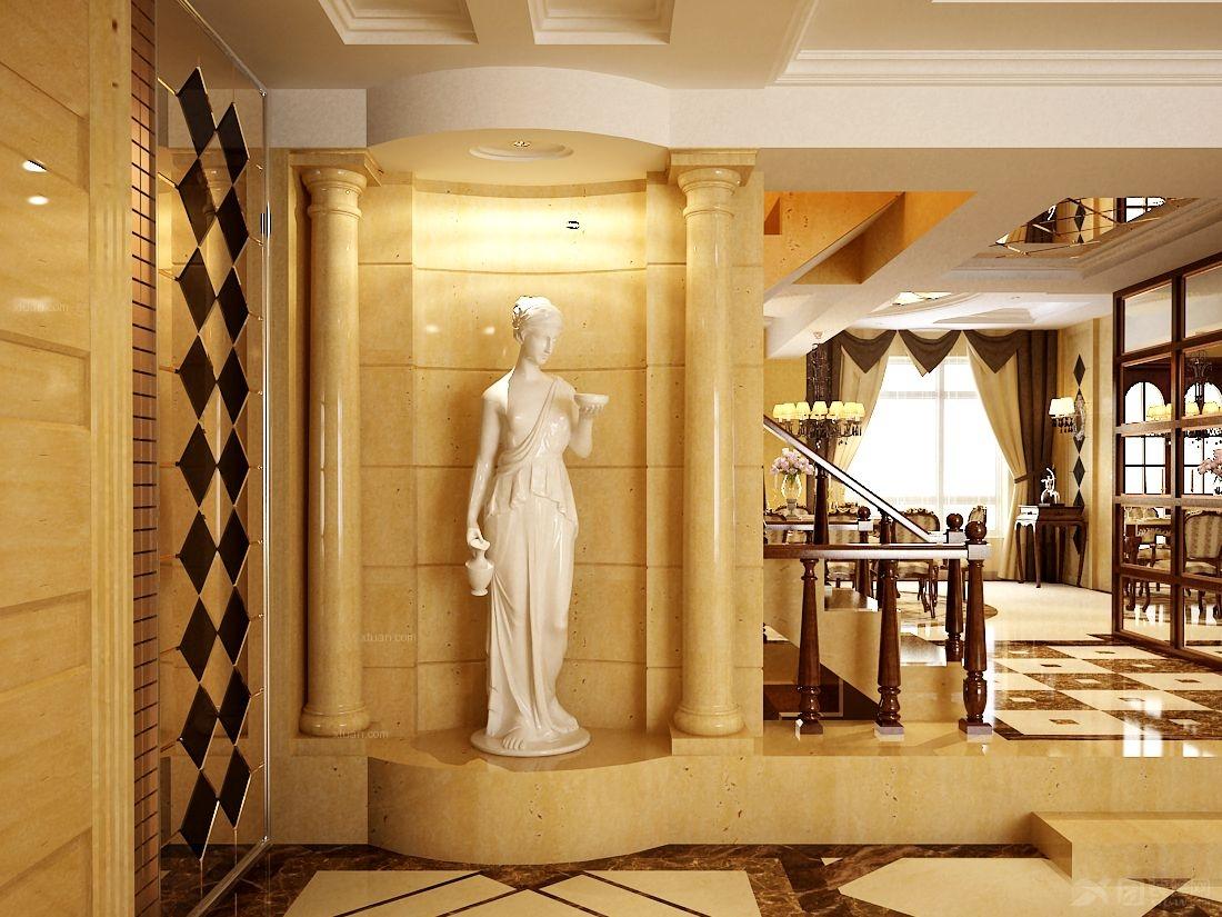 万里水岸复式楼精装欧式风格——鼎盛创典装饰