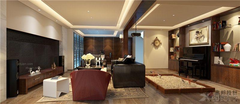 上海保利茉莉公馆下叠户型装修设计奥邦装饰茆昊丰作品